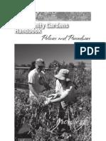 Community Gardens Handbook - Eugene, Oregon