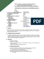 SILABO DE  ESTADISTCa APLICADA  ING AGRICOLA-2015-II