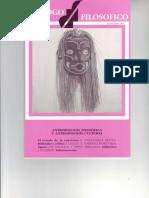 Antropología cultural y Antropología filosófica