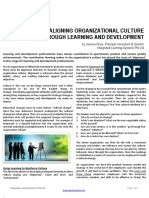 Aligning Organizational Culture Thru L&D