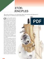 Carburetor Basic Principles
