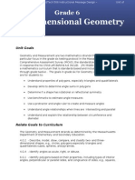 Unit of Instruction Geometry Grade 6