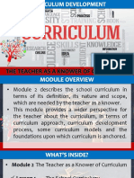 4 The Teacher as a Knower of Curriculum - Lesson 1