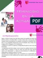 Feminicidio en La Actualidad