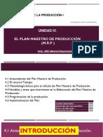 Unidad IV. El plan maestro de producción (MPS)..pptx