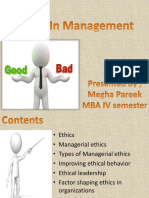EthICAL MANAGEMENT