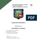 Décimo informe de bioquímica
