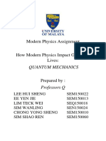Assignment 2- How Modern Physics Impact Our Daily Lives- Quantum Mechanics.docx