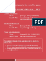 Bidding Guide for No-Frills and Nationals 2011 Version