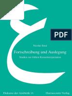 (Diskurse der Arabistik) Nicolai Sinai - Fortschreibung und Auslegung_ Studien zur frühen Koraninterpretation-Harrassowitz (2009).pdf