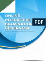 Online Interactive Examinator Generator