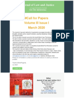 Journal of Law and Justice Call for Paper_March-2020