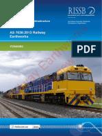 As 7638(2013) - Railway Earthworks