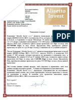 Offer Alisseto Invest