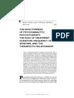 Freedman-The effectiveness of psychoanalytic psychotherapy