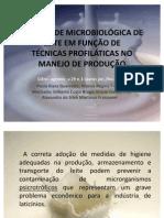 QUALIDADE MICROBIOLÓGICA DE LEITE EM FUNÇÃO DE