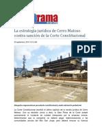 La estrategia jurídica de Cerro Matoso