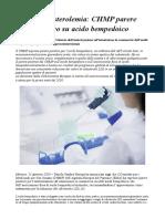 Ipercolesterolemia CHMP Parere Positivo Su Acido Bempedoico