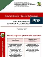 1 HISTORIA ORIGINARIA Y COLONIAL DE VENEZUELA