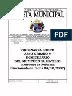 +ordenanza sobre aseo urbano y domiciliario del municipio el hatillo