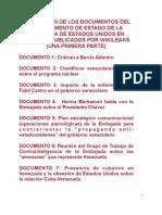 Cables del US Dpt. of State sobre Venezuela filtrados por Wikileaks