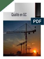 Qualité dans les chantiers du BTP