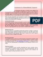 Best Cancer Treatment in Ahmedabad, Gujarat - PDF