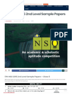 17th NSO 2015 2nd Level Sample Papers - Class 5