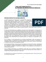 Tecnología Farmaceutica 1 Visión Global Del Proceso de Produccion de Farmacos
