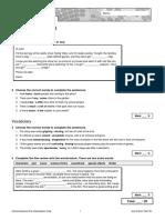 Oxford Solutions Pre-Int Short Test Unit 3 1B
