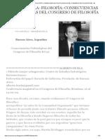 ALBERTO BUELA_ FILOSOFÍA_ CONSECUENCIAS POLITOLOGICAS DEL CONGRESO DE FILOSOFÍA DEL `49