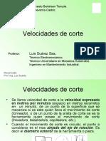 4.3 VELOCIDADES DE CORTE
