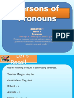 Persons of Pronouns