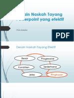 Desain Naskah Tayang Powerpoint yang efektif