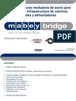 Superestructuras modulares de acero para puentes en infraestructura de caminos rurales y alimentadores
