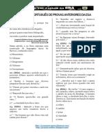 Questões de Provas Anteriores da ESA - PORTUGUÊS