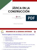 2019 - I - Logística en la Construcción - Sesión 8
