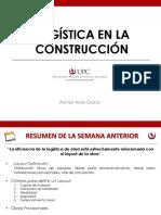 2019 - I - Logística en la Construcción - Sesión 9