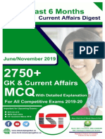 2700 Last Six months Current Affairs MCQ with Detalied Answes 2019 (June-No