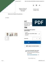 EKET Combinaison rangement avec pieds - blanc:gris clair, effet chêne blanchi - IKEA