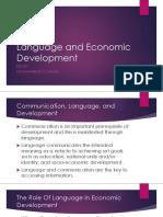Language and Economic Development