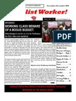 ISO Zimbabwe's `Socialist Worker' December 2010 issue