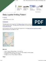 Baby Layette Knitting