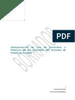 anteproyecto-ley de derechos y deberes de los usuarios del SISTEMA DE SALUD DE ARAGON