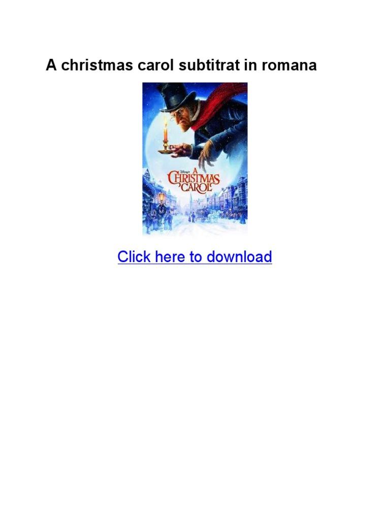 A Christmas Carol Subtitrat In Romana Pdf A Christmas Carol Christmas
