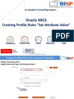 Oracle ARCS Profile Rules