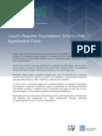 SEASEP Personal Info Lloyd's fund form