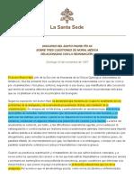 DISCURSO DEL SANTO PADRE PÍO XII SOBRE TRES CUESTIONES DE MORAL MÉDICA RELACIONADAS CON LA REANIMACIÓN
