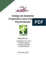 Código de Gobierno Corporativo para empresa PlusAmbiente.pdf
