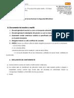 Informare furnizori -Procedura receptie marfa